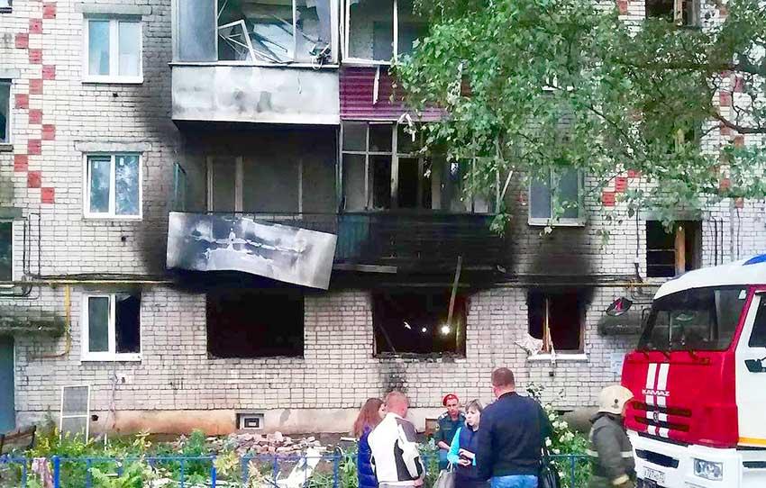 Взрыв газа в пятиэтажке. Ковров.